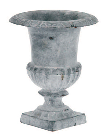 LEAD FINISHED CAST IRON SMALL URN