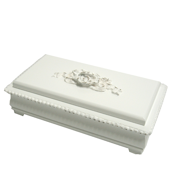 Bella rectangular rose jewelry box