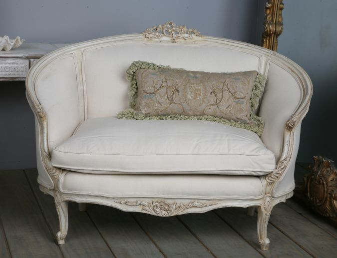 Antique Reproduction Oval Cannape - Louis XV Style