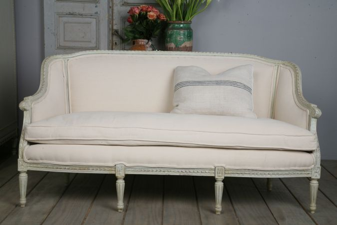 Louis XVI Style Reproduction Classic Settee