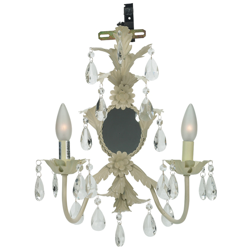 Wallsconce - 2-arm Mirror Lighted - Ivory