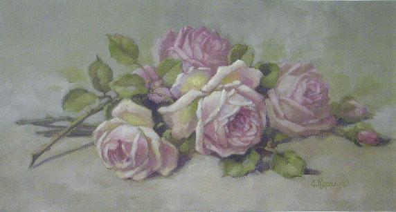 Pink Roses Laying