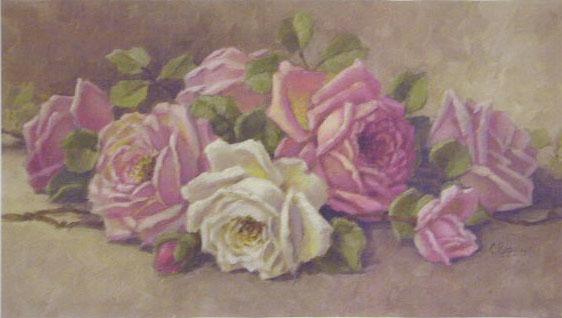 Roses Lying Down