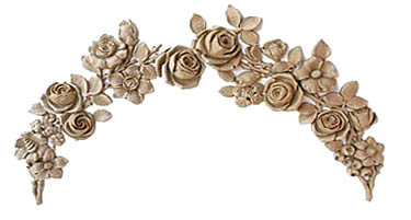 Jewel Rose Swag Applique