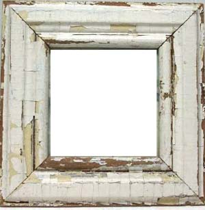 Salvaged Wood Moulding Picture Frames