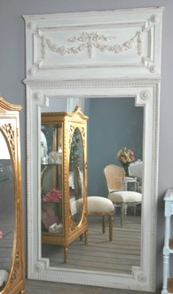 Large Sage Green Trumeau Mirror